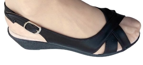 Дамски сандали EZEL, със стелка от естествена кожа